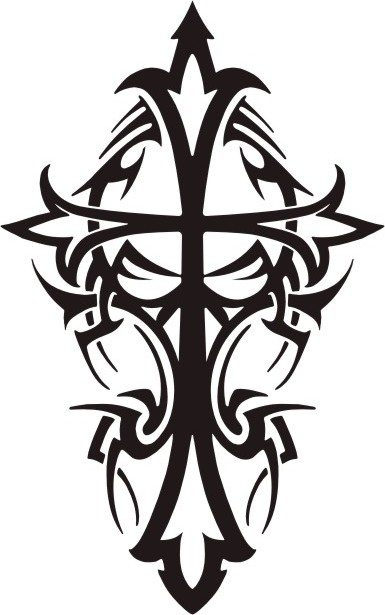 Tribal Crosses Tattoos
